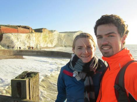 Us by the Seven Sisters near Seaford
