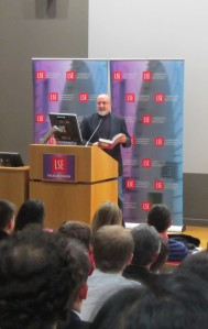 At a lecture by Nassim Taleb, author of a number of brilliant books.
