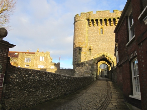 The 14th-century Barbican house at Lewes Castle