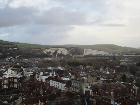 Looking out over Lewes