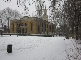 St. Peter's Walworth in the snow