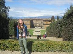 Faith in the Boboli Gardens behind Palazzo Pitti