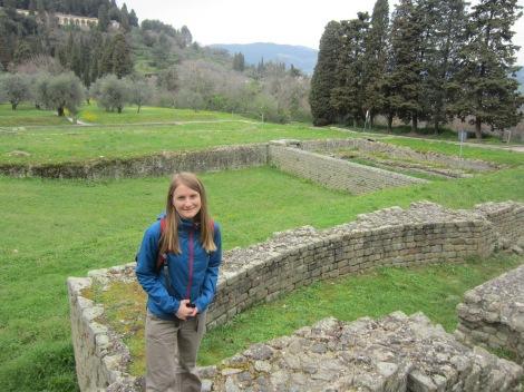 Faith among the Roman ruins in Fiesole