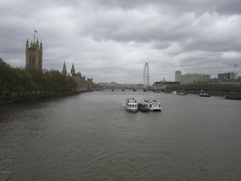 The view from Lambeth Bridge. You might recognise it from the banner at the top of our blog.