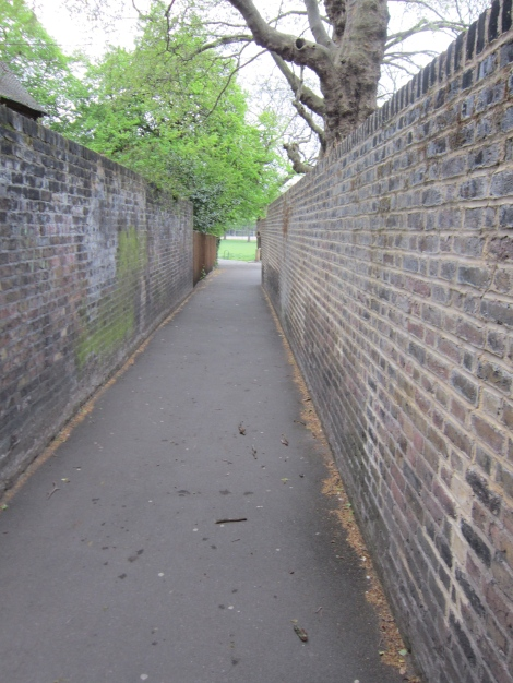 After a short stretch along Lambeth Road, a narrow path leads back to Archbishop's Park