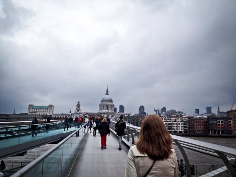 On your way to evensong at St. Paul's, be sure to cross the Thames via Millennium Bridge.