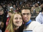 At an Obama rally in 2008. We were so young and full of optimism back then!