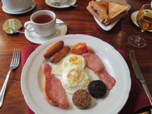 Those sausage circles complimenting our breakfast? You guessed it - black and white pudding!