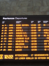 All the trains in Italy are 'ritardo'