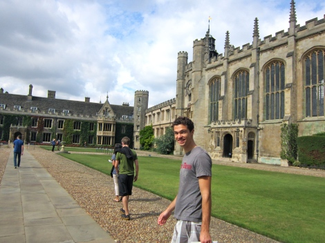 Wondering around Trinity College, Cambridge