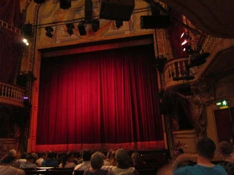 An ill-gotten photo from inside the Playhouse Theatre in London
