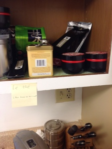 Proper labeling. (The tea - we drink it without milk or sugar.)
