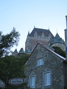 If you must know, the Chateau Frontenac wasn't built until the 19th century.